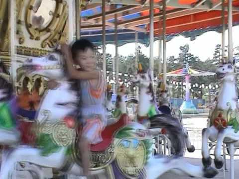 2007 Бурятия Улан-Удэ карусель парк в кварталах Ulan-Ude, carousel Карусель
