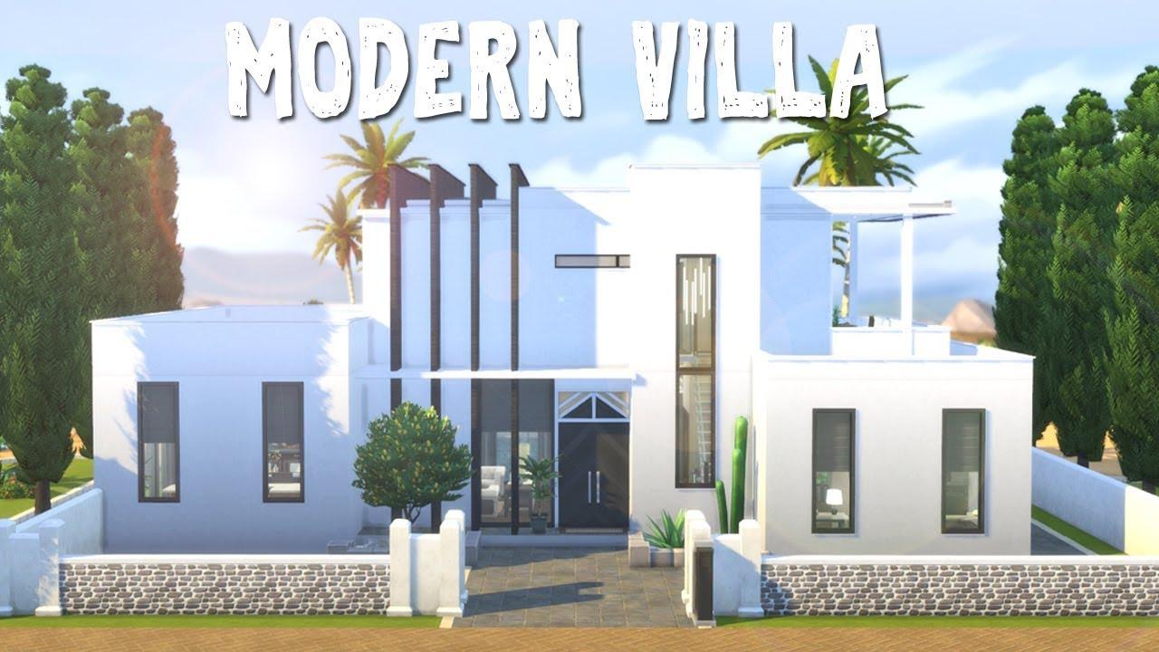 Modern Villa || The Sims 4: Speed Build - YouTube