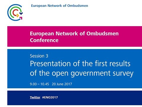 European Network of Ombudsmen Conference 2017 - Session 3