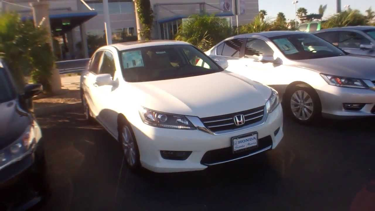 2014 honda accord exl white orchid pearl youtube for 2014 honda accord white