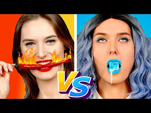 Hot vs Cold Teacher! Best HOT vs COLD Challenge || Prank Ideas & Funny Situations by Crafty Panda