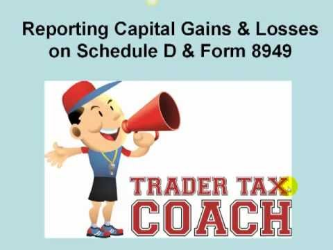 Reporting Capital Gains And Losses On Schedule D And Form 8949 Youtube