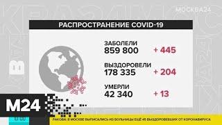 За последний час в мире заразились коронавирусом более 400 человек - Москва 24