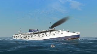 Albattoss colides with Big Apple Ferry| Ship Simulator Extremes