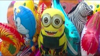 balonku ada lima   balloons minion  doraemon  nemo  shark  spongebob  ipin upin   balon karakter