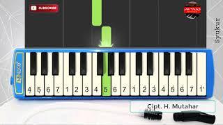 SYUKUR - MUTAHAR | Lagu Wajib Nasional | Pianika | Cover Tutorial | TEMPO LAMBAT | Syukur Piano