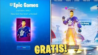 *NEW* How to UNLOCK Hockey SKINS in Fortnite - NHL X FORTNITE EVENT