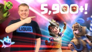5,900+! Quick Cycle Prince Log Bait Deck! LIVE Ladder Gameplay - Clash Royale