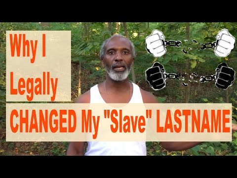 "Why I Legally Changed My ""Slave"" Name."