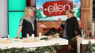 Martha Stewart and Ellen Get the Holidays Started with Crafts and Cocktails - Extended Version