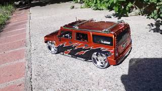 Uber Rare Jada Toys Big Ballers H2 Hummer 1/18 scale cleaning
