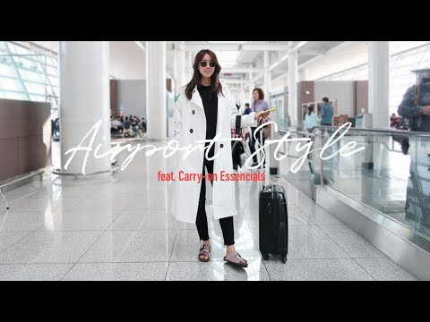 [ENG TRAVEL VLOG] Fashion blogger Airport Style & Carry-on Essential _RekayStyle 공항패션 & 기내 필수품