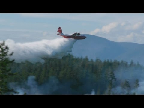 Martin Mars Water Bomber Run