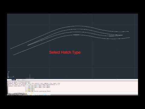 Road Hatch lines in AutoCAD