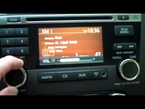 2010 nissan altima premium audio system demo bose xm mp3 ipod youtube