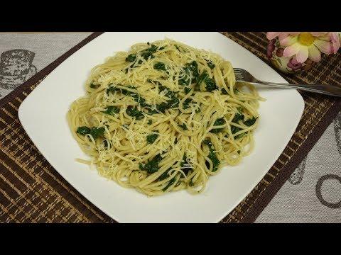 Makaron ze Szpinakiem | Obiad w 15 minut – prosty i pyszny