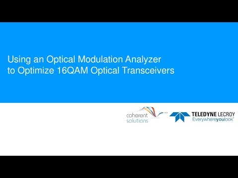 Using an OMA to Optimize 16QAM Optical Transceivers