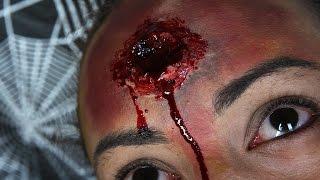 Halloween-Fast Bullet wound SFX Makeup tutorial