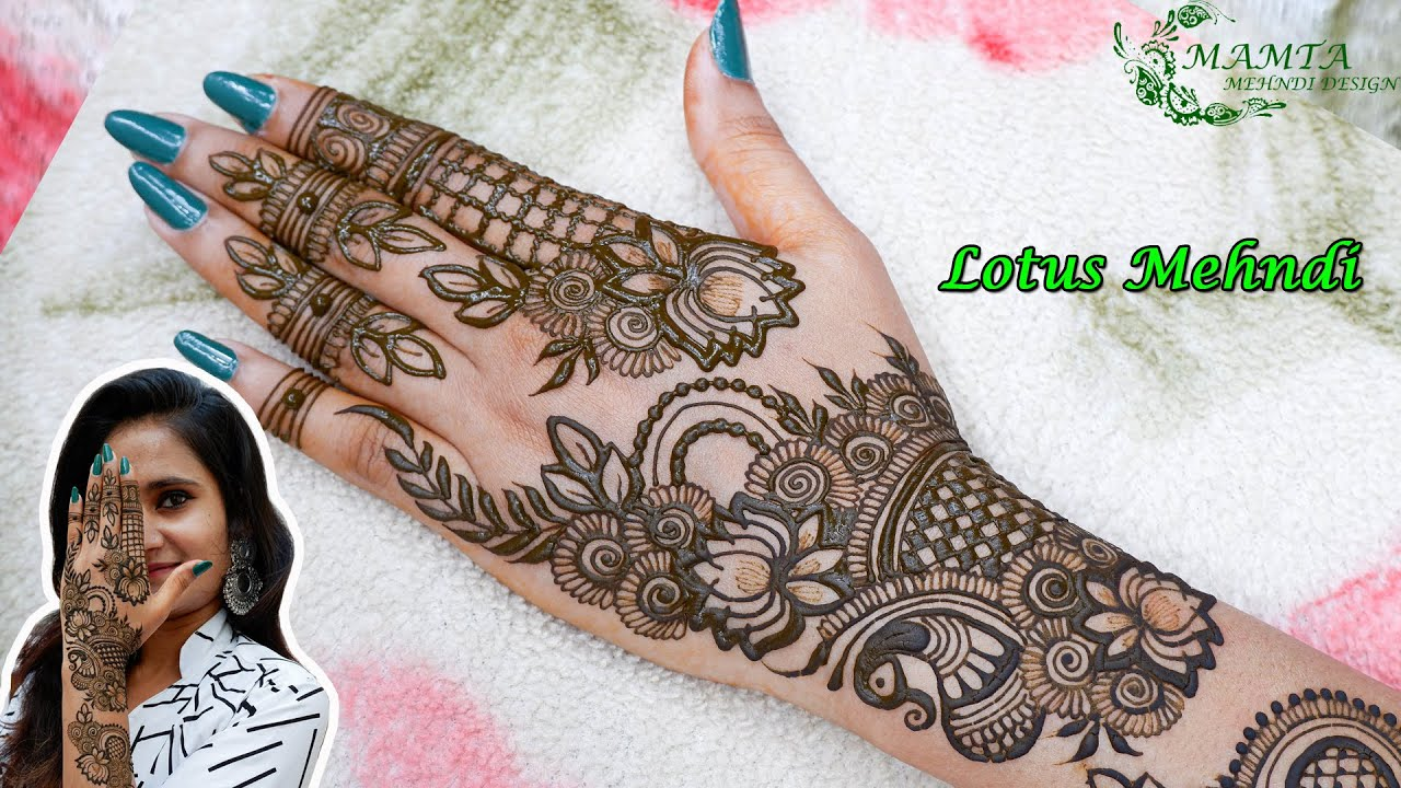 Beautiful Lotus Mehndi Design 2020 | Lotus Arabic Mehndi | Stylish Back Hand Mehndi Design