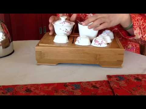 Travel gaiwan tea set