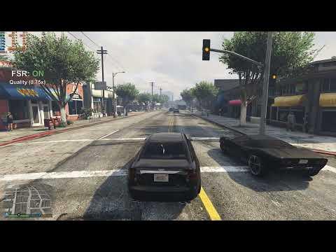 I added FidelityFx Super Resolution to Grand Theft Auto 5