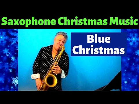 Blue Christmas Saxophone Music and Backing Track Download