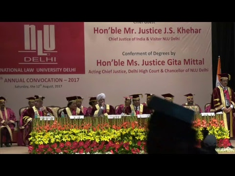 NLU New Delhi Live Stream | 5th Annual Convocation 2017