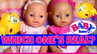 😋Fake Baby Born Doll! Unboxing A Fake Baby Born From Europe And Comparing It To The Real Baby Born!
