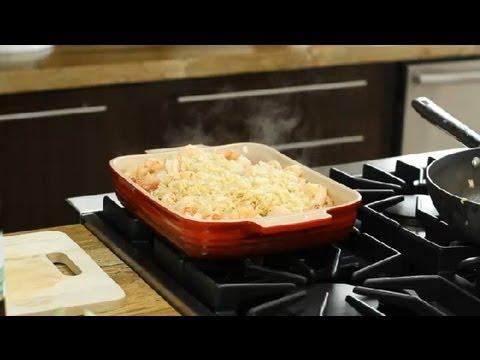 Greek Baked Shrimp With Orzo  Feta Recipe : Greek Cooking