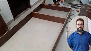 آموزش کار با ام دی اف  کمد کشودار ام دی اف ساختن چهارچوب MDF