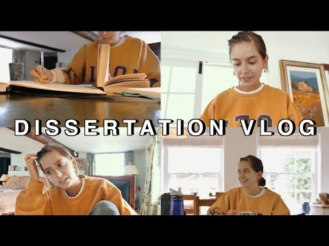 STUDY WITH ME: WRITING A DISSERTATION | Sunbeamsjess