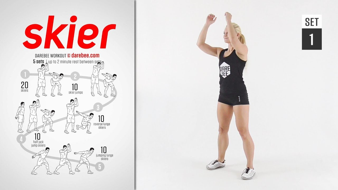 Download Skier Workout by DAREBEE [ FULL ] [ CARDIO ] [ 15 Minutes ]