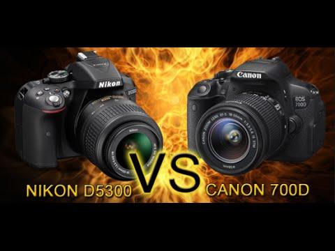 Canon 700D vs Nikon D5300