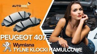 Montaż Klocki Hamulcowe tylne i przednie PEUGEOT 407 (6D_): darmowe wideo