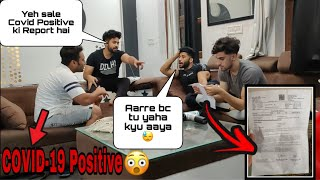 FAKE COVID REPORT PRANK ON FRIENDS // epic reaction 😂