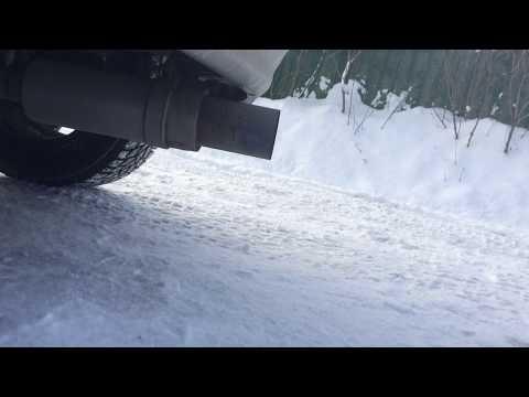 Звук прямоточного глушителя (выхлоп) HKS Hi-Power 51мм. Toyota Allex E120 2001 года 1NZ-FE