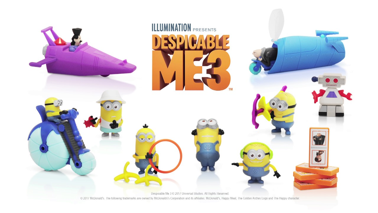 Discover Despicable Me 3 toys from McDonald\'s - YouTube