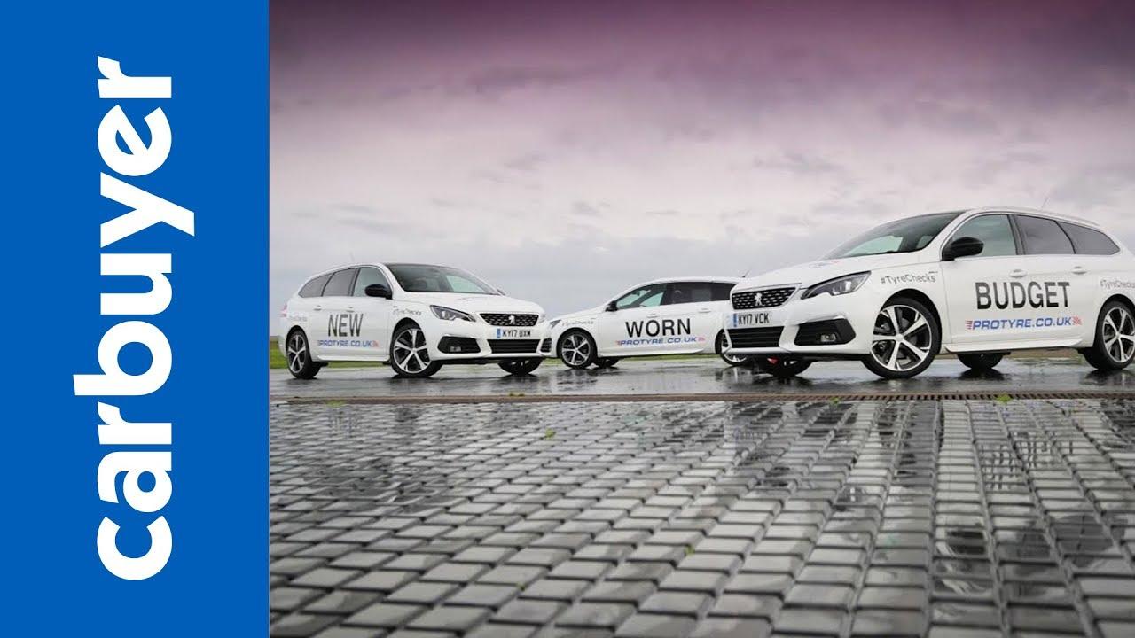 Understanding the difference between new, budget and part worn tyres - Carbuyer tyre test - Dauer: 4 Minuten, 18 Sekunden