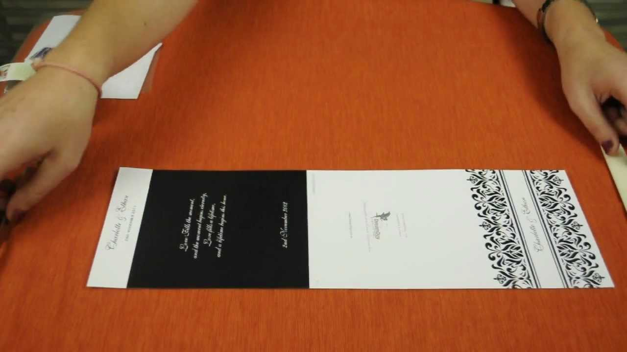 how to fold pocket wedding invitations youtube