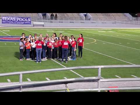 Mitchell Intermediate Chorale Choir sings the National Anthem