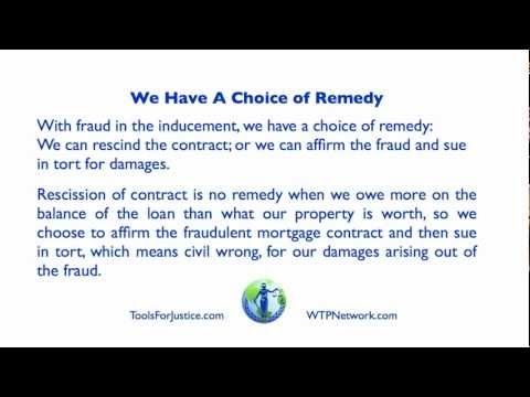 Mortgage Fraud Remedy