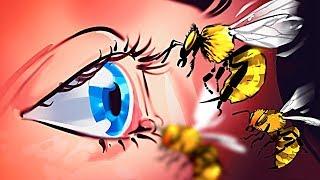 La única manera de escapar de un enjambre de abejas