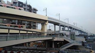 都営5500形5504F、5505F 京急蒲田駅立体交差