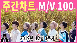 [주간차트 12월 3주차] 금주의 KPOP 아이돌 뮤직비디오 순위 100 - 2019년 12월 22일 | 와…