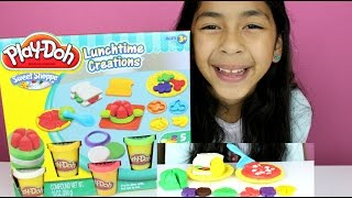 Tuesday Play Doh Lunch Time Creations |play Doh Pizza, Sandwich,cookies And Fruits