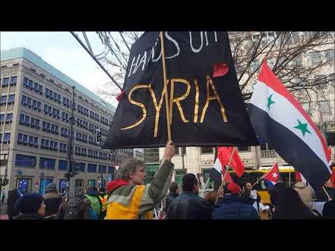 #Aufstehen für die Aufhebung der Sanktionen gegen Syrien - Kundgebung Berlin 1. Dezember 2018