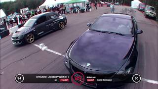 MITSUBSHI LANCER EVOLUTION 9 700HP VS BMW M6 5330 HP