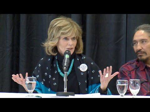 Jane Fonda calls Trudeau 'a disappointment,' defends Alta. oilsands visit