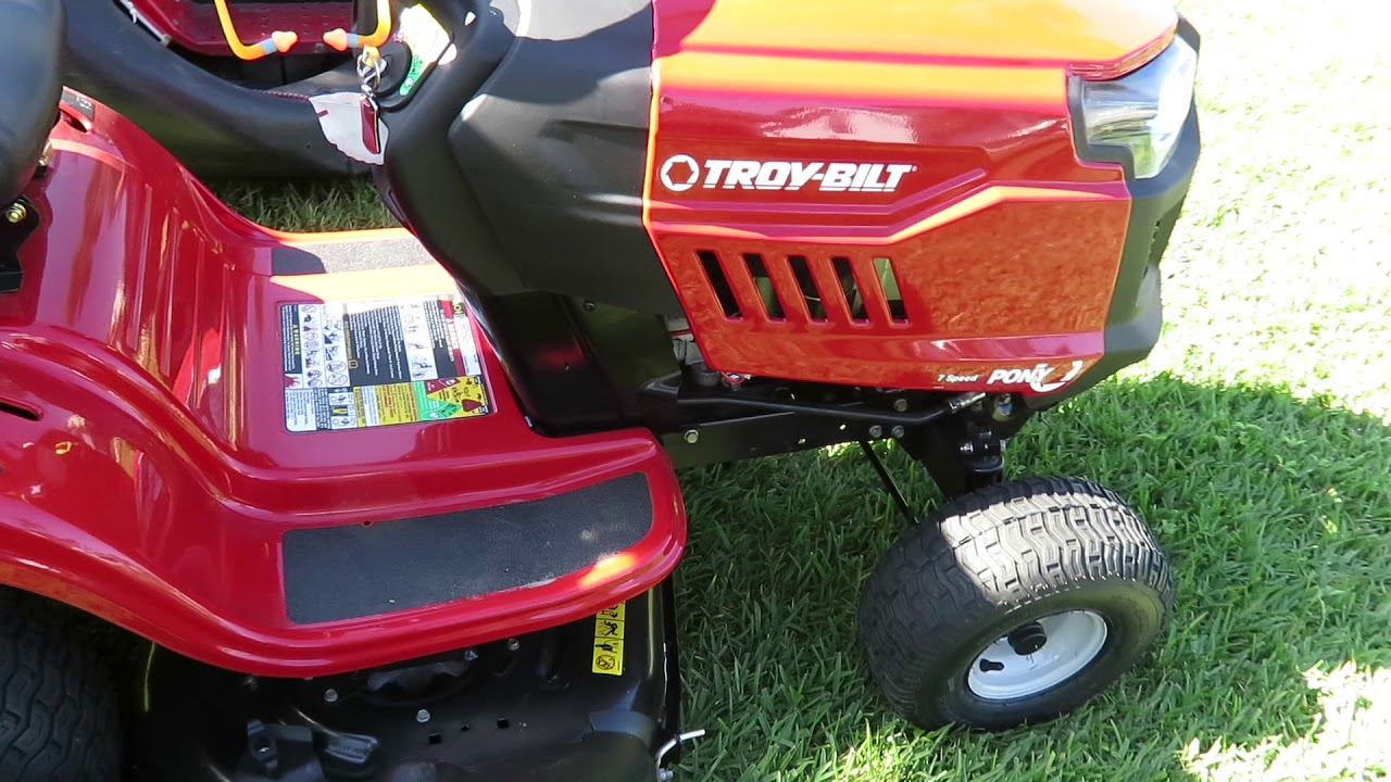 Troy Bilt Mtd Rider Mower Lawn Tractor Bagger Review