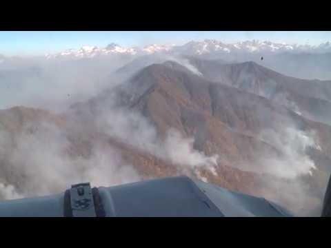 Крупный пожар в высокогорной Абхазии